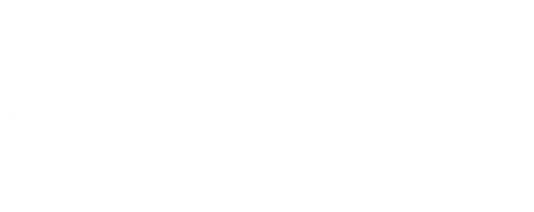 Logo Bart Willemse Haptonomie Wit